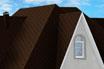 мягкая черепица Ruflex Briss Морозный каштан крыша