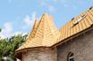 мягкая черепица Ruflex Sota Золотой песок крыша