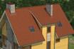 мягкая черепица Ruflex Tab Красный лис крыша
