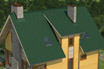 мягкая черепица Ruflex Tab Зеленый чай крыша