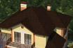 мягкая черепица Ruflex Tab Кедровый орех крыша