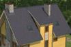 мягкая черепица Ruflex Tab Норвежский фьорд крыша