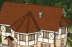 мягкая черепица Ruflex Briss Огнанная корица крыша