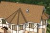 мягкая черепица Ruflex Briss Янтарь крыша