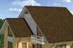 мягкая черепица Ruflex Ornami Кофе крыша